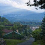 Widok na Karkonosze oraz miasto Kowary